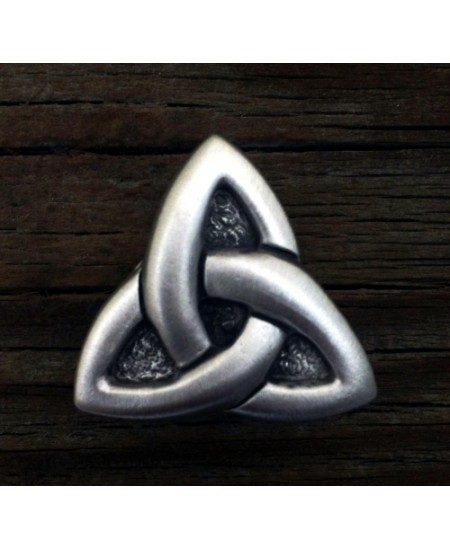 Celtic Triquetra Pewter Concho at Mystic Convergence Metaphysical Supplies, Metaphysical Supplies, Pagan Jewelry, Witchcraft Supply, New Age Spiritual Store