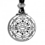 Pentacle of Solomon Talisman Pewter Necklace