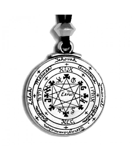 Pentacle of Solomon Talisman Pewter Necklace at Mystic Convergence Metaphysical Supplies, Metaphysical Supplies, Pagan Jewelry, Witchcraft Supply, New Age Spiritual Store