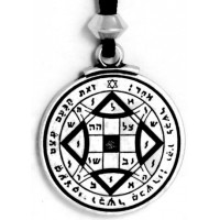 Attain Love Talisman Pewter Amulet Necklace