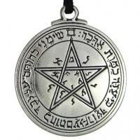 Talisman of Venus Love Pentacle Pewter Necklace