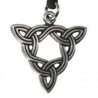 Brigid Knot Celtic Goddess Pewter Necklace