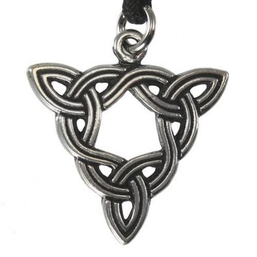Brigid knot celtic goddess pewter necklace triple knot triquetra pendant brigid knot celtic goddess pewter necklace aloadofball Image collections