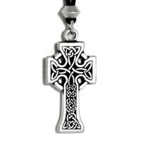 Celtic Knotwork Cross Pewter Necklace