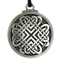 Celtic Love Knot Pewter Necklace