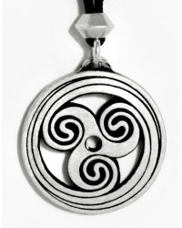 Celtic Spiral Pewter Necklace Mystic Convergence Metaphysical Supplies Metaphysical Supplies, Pagan Jewelry, Witchcraft Supply, New Age Spiritual Store