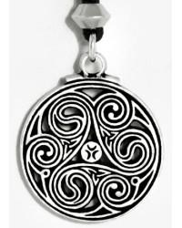 Triscele Celtic Spiral Pewter Necklace