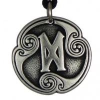 Dagaz - Rune of New Beginnings Pewter Talisman