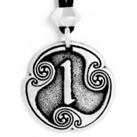 Isa - Rune of Duration Pewter Talisman