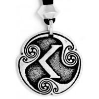 Ken - Rune of Passion Pewter Talisman