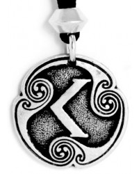 Ken - Rune of Passion Pewter Talisman Mystic Convergence Metaphysical Supplies Metaphysical Supplies, Pagan Jewelry, Witchcraft Supply, New Age Spiritual Store