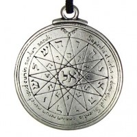Talisman of Mercury for Secret Knowledge Pewter Necklace