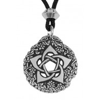 Pentacle of the Goddess Small Pewter Necklace