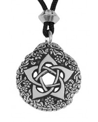 Pentacle of the Goddess Small Pewter Necklace Mystic Convergence Metaphysical Supplies Metaphysical Supplies, Pagan Jewelry, Witchcraft Supply, New Age Spiritual Store