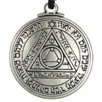 Talisman of the Sun for Truth and Health Pewter Necklace