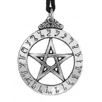 Witches Rune Pewter Magical Pendant