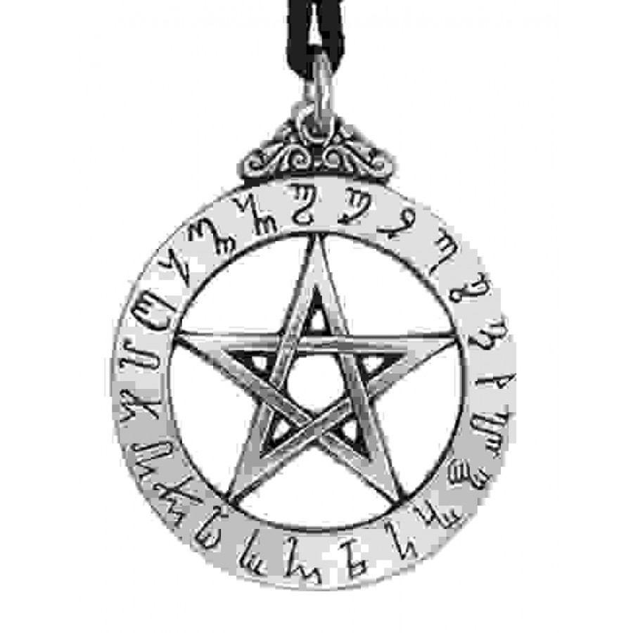 Witches Rune Pewter Magical Pendant Wiccan Pagan Witchcraft Theban