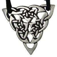 Triquetra Celtic Triple Knot Pewter Necklace