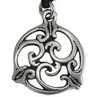 Triscele Celtic Spiral Pewter Necklace in 2 Sizes