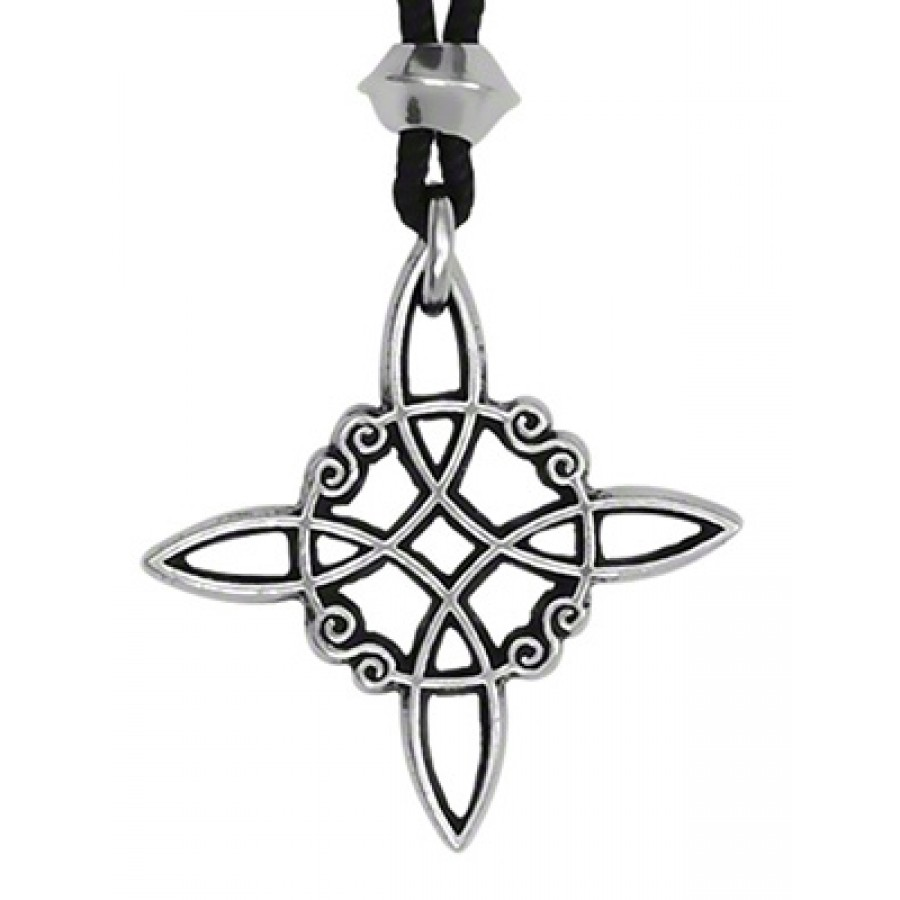 Witches Knot Pewter Protection Pendant Witchcraft Jewelry Witch Charm