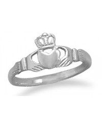Claddagh Small Sterling Silver Ring Mystic Convergence Metaphysical Supplies Metaphysical Supplies, Pagan Jewelry, Witchcraft Supply, New Age Spiritual Store