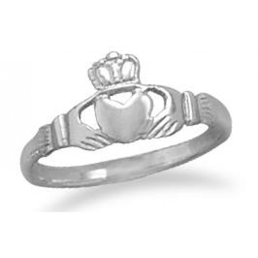 claddagh small sterling silver ring at mystic convergence wiccan supplies pagan jewelry witchcraft - Wiccan Wedding Rings