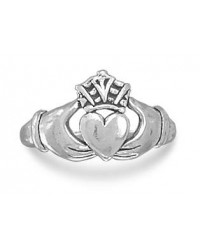 Claddagh Oxidized Sterling Silver Ring Mystic Convergence Metaphysical Supplies Metaphysical Supplies, Pagan Jewelry, Witchcraft Supply, New Age Spiritual Store