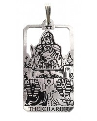 The Chariot Small Tarot Pendant Mystic Convergence Metaphysical Supplies Metaphysical Supplies, Pagan Jewelry, Witchcraft Supply, New Age Spiritual Store