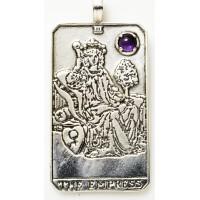 Empress Large Gemstone Tarot Pendant