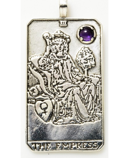 Empress Large Gemstone Tarot Pendant at Mystic Convergence Magical Supplies, Wiccan Supplies, Pagan Jewelry, Witchcraft Supplies, New Age Store