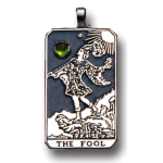 The Fool Large Gemstone Tarot Pendant