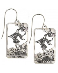 The Fool Small Tarot Card Earrings | Sterling Silver Tarot Jewelry Mystic Convergence Metaphysical Supplies Metaphysical Supplies, Pagan Jewelry, Witchcraft Supply, New Age Spiritual Store
