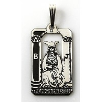 The High Priestess Small Tarot Pendant