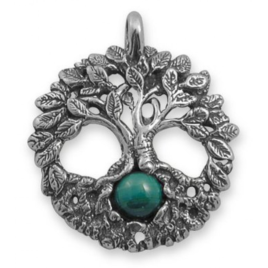 Celtic tree of life sterling silver pagan jewelry pendant with gemstone celtic tree of life sterling silver pendant with gemstone aloadofball Gallery
