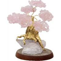 Rose Quartz Gemstone Wishing Tree