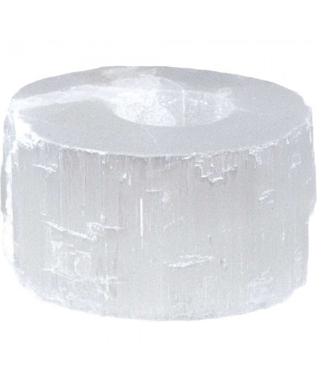 Selenite Flat Tea Light Candle Holder at Mystic Convergence Metaphysical Supplies, Metaphysical Supplies, Pagan Jewelry, Witchcraft Supply, New Age Spiritual Store