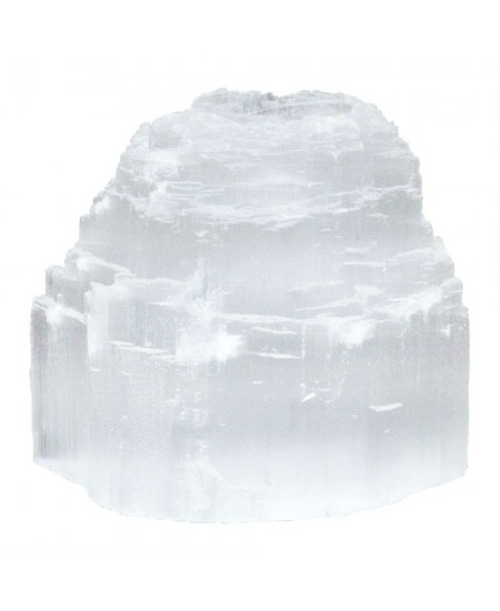 Selenite Natural Tea Light Candle Holder at Mystic Convergence Metaphysical Supplies, Metaphysical Supplies, Pagan Jewelry, Witchcraft Supply, New Age Spiritual Store