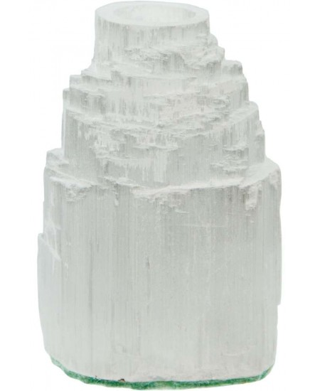 Selenite Iceberg Tea Light Candle Holder at Mystic Convergence Metaphysical Supplies, Metaphysical Supplies, Pagan Jewelry, Witchcraft Supply, New Age Spiritual Store