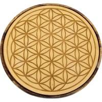 Flower of Life Wood Crystal Grid