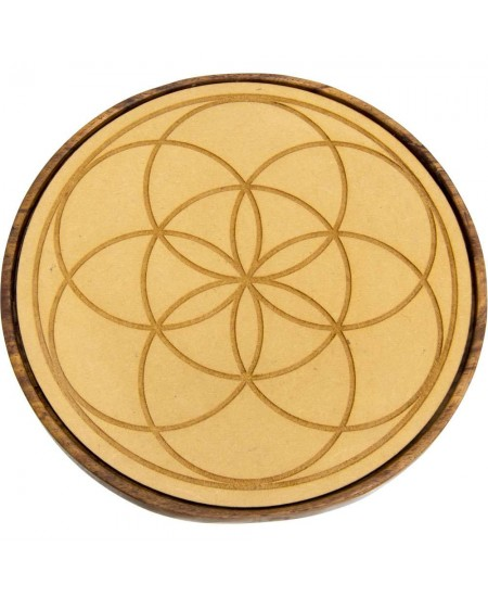Seed of Life Wood Crystal Grid at Mystic Convergence Metaphysical Supplies, Metaphysical Supplies, Pagan Jewelry, Witchcraft Supply, New Age Spiritual Store