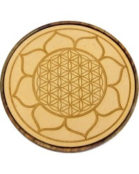Lotus Flower of Life Wood Crystal Grid Mystic Convergence Metaphysical Supplies Metaphysical Supplies, Pagan Jewelry, Witchcraft Supply, New Age Spiritual Store