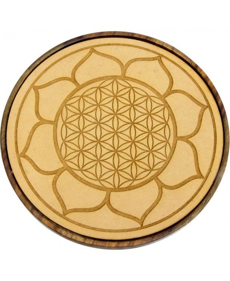 Lotus Flower of Life Wood Crystal Grid at Mystic Convergence Metaphysical Supplies, Metaphysical Supplies, Pagan Jewelry, Witchcraft Supply, New Age Spiritual Store