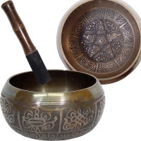Dhyani Buddhas Small 4.5 Inch Embossed Singing Bowl