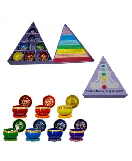 7 Chakra Mini Singing Bowl Set
