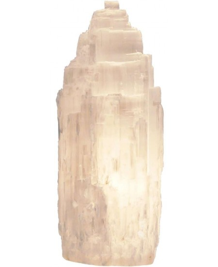 Selenite Natural Shape Electric Lamp at Mystic Convergence Metaphysical Supplies, Metaphysical Supplies, Pagan Jewelry, Witchcraft Supply, New Age Spiritual Store