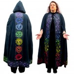 Black Chakra Hooded Ritual Cloak at Mystic Convergence Metaphysical Supplies, Metaphysical Supplies, Pagan Jewelry, Witchcraft Supply, New Age Spiritual Store