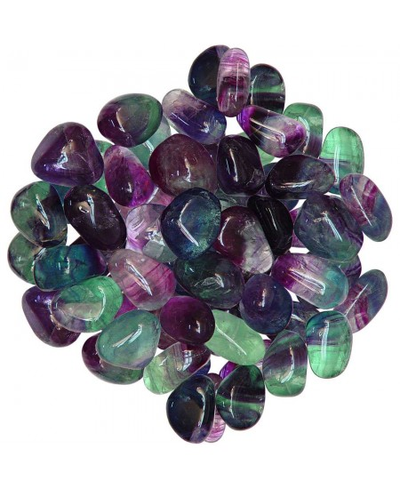 Fluorite Tumbled Stones - 1 Pound Bag at Mystic Convergence Metaphysical Supplies, Metaphysical Supplies, Pagan Jewelry, Witchcraft Supply, New Age Spiritual Store