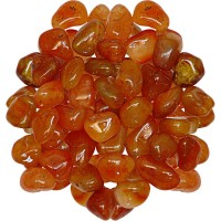 Carnelian Tumbled Stones - 1 Pound Pack