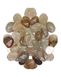 Rutilated Quartz Tumbled Stones - 1 Pound Bag Mystic Convergence Metaphysical Supplies Metaphysical Supplies, Pagan Jewelry, Witchcraft Supply, New Age Spiritual Store