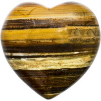 Tiger Eye Heart Stone